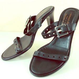 Donald J. Pliner black strappy sandals sz 6 1/2